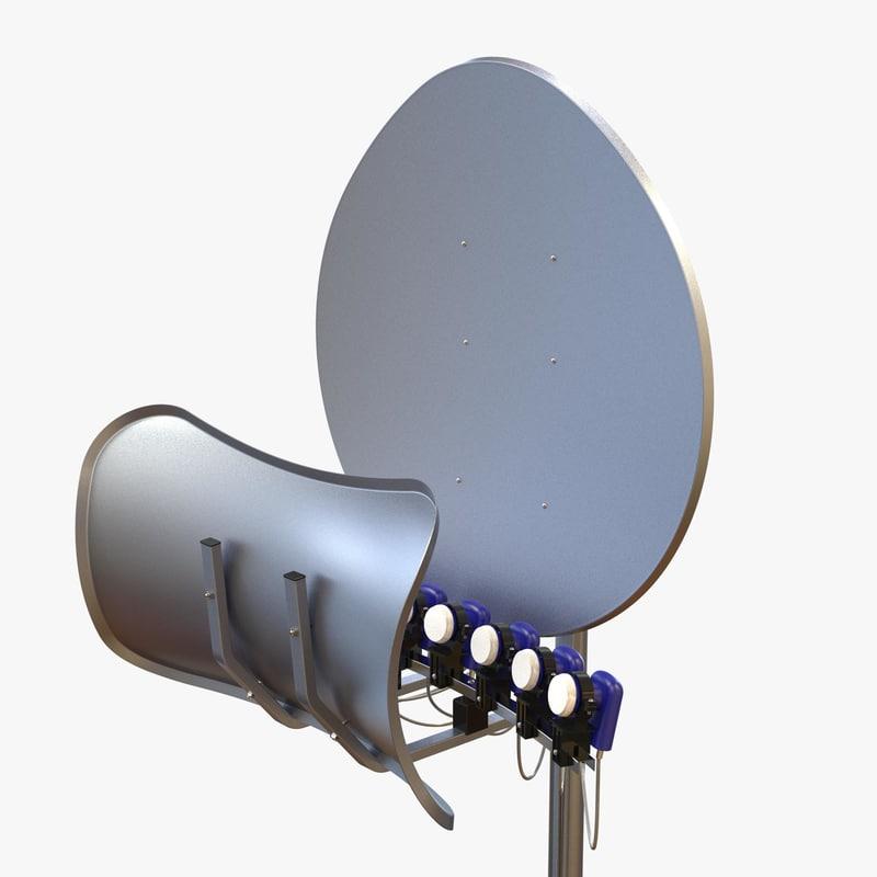 Antena toroidala cu 12 lnb