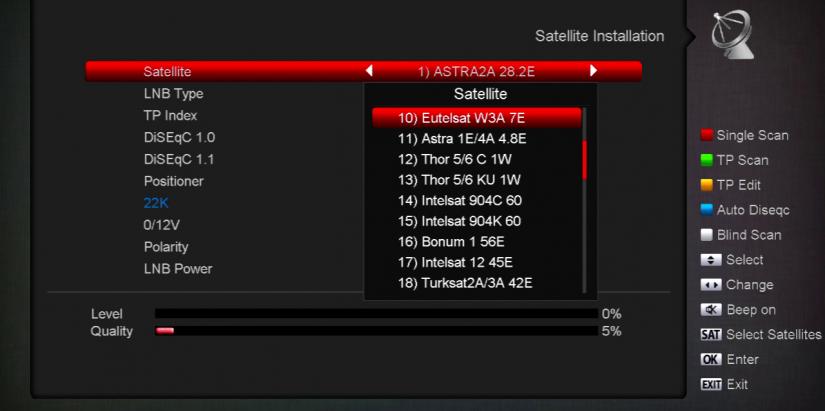 menu decodoare satelit amiko