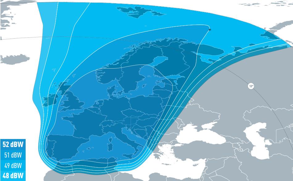 Eutelsat 5W-B spot european